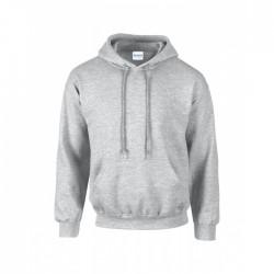 Gråmelerad hoodie - Lokalpatriot